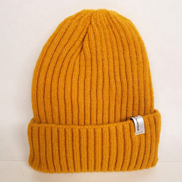 Uppdoo Studio - Wool Blended Beanie Toque Hat (Yellow)