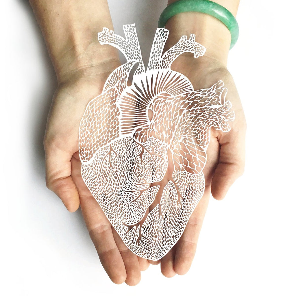Light + Paper Studio - ANATOMICAL HEART PAPERCUTTING ARTWORK