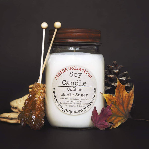 Sara's Candle Co. - Quebec Maple Sugar Soy Candle