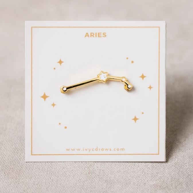 Ivy c Draws Zodiac Pin Aries