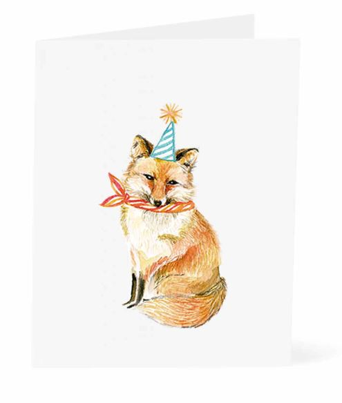 Jo Lee - Birthday Fox Card