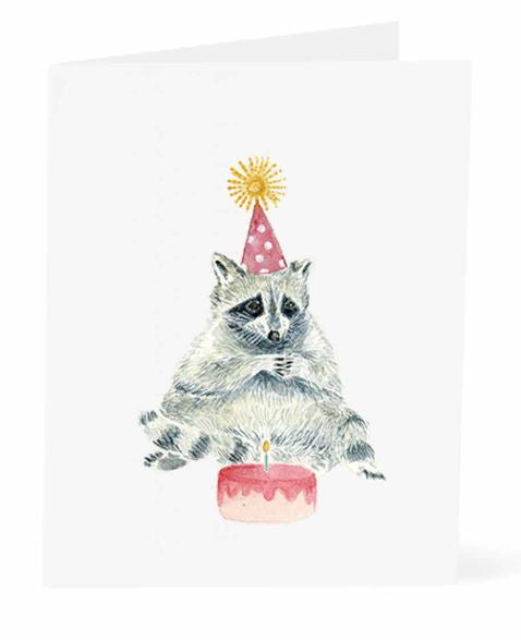 Jo Lee - Birthday Raccoon Card