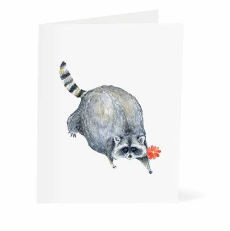 Jo Lee - Raccoon Flower Card