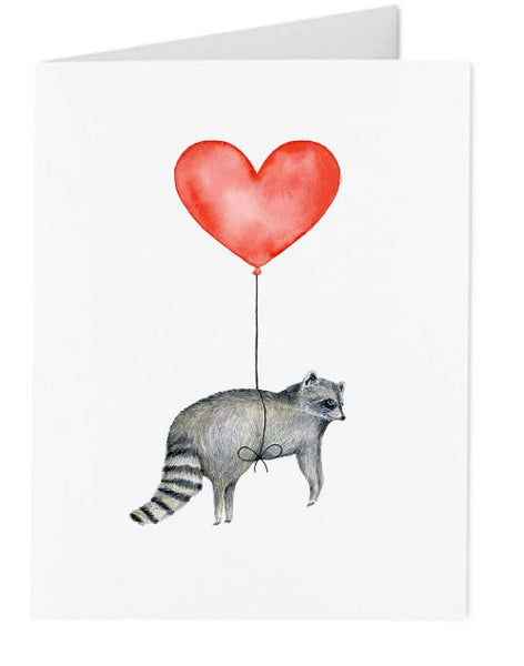 Jo Lee - Raccoon Balloon Card