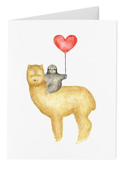 Jo Lee - Sloth & Llama Balloon Card