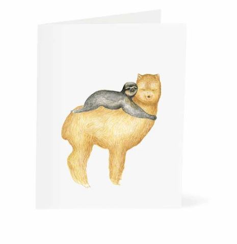 Jo Lee - Sloth & Llama Hug Card