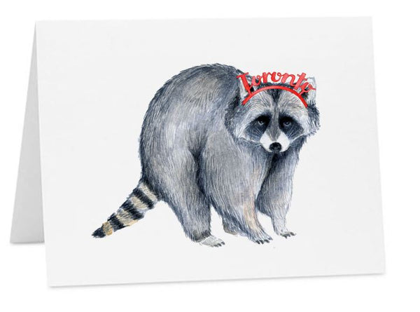 Jo Lee - Toronto Crown Raccoon Card