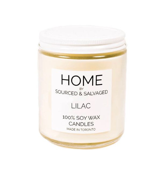 Sourced and Salvaged Soy Candle - Lilac