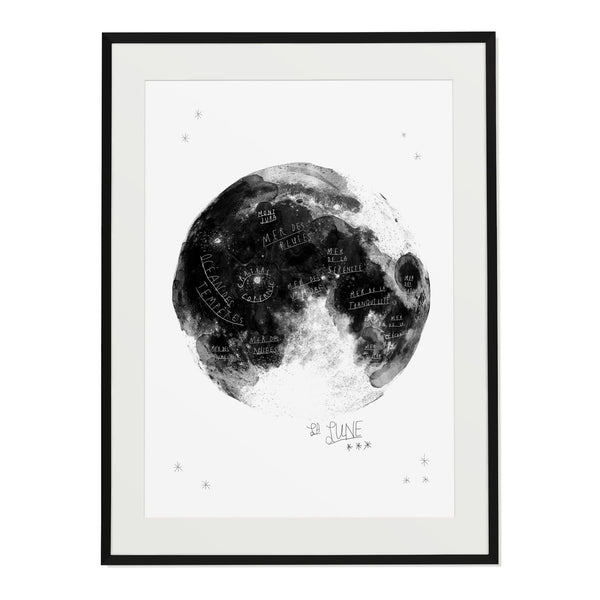 "Baltic Club - La Lune (Moon) 8x10"" Art Print"