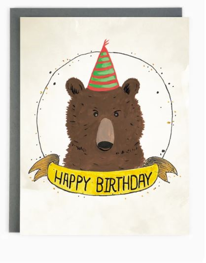 Made in Brockton Village - Happy Birthday Bear Card