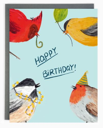 Made in Brockton Village - Happy Birthday Birds Card