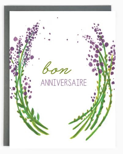 Made in Brockton Village - Birthday Lavender Card