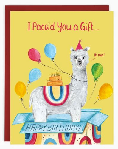 Made in Brockton Village - Birthday Alpaca Card