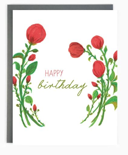 Made in Brockton Village - Birthday Roses Card