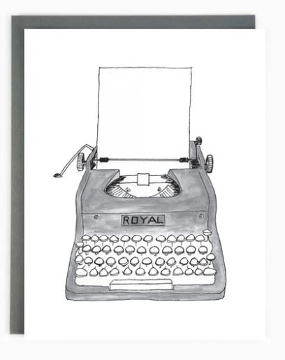 Made in Brockton Village - Typewriter Card