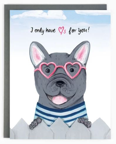 Made in Brockton Village - French Bulldog Love Card