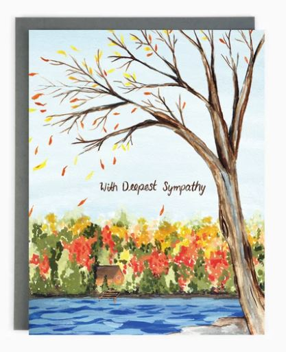 Made in Brockton Village - Sympathy Lake Card