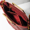 Origami Small Tote - Bordeaux Red
