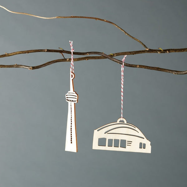 Light + Paper Studio - CN Tower and SkyDome Ornament Set