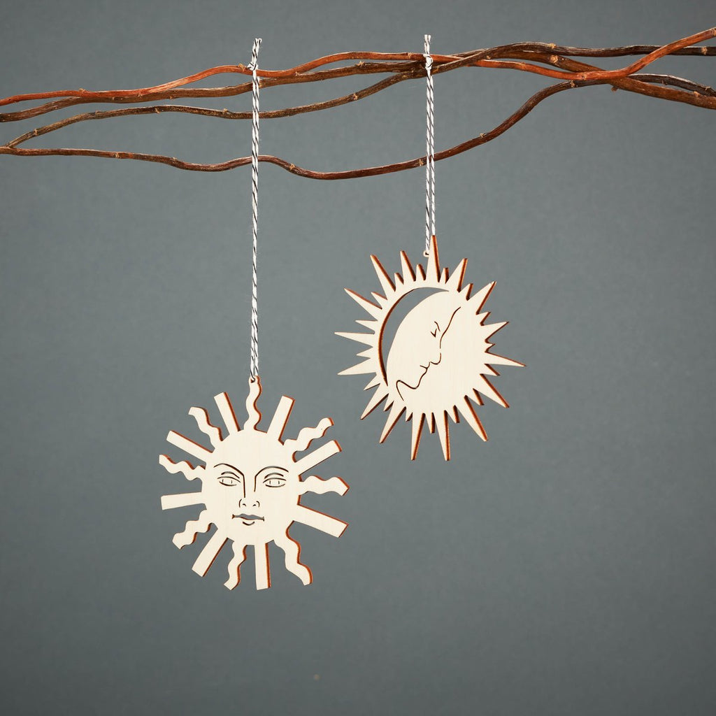 Light + Paper Studio - Tarot Sun and Moon Ornament Set