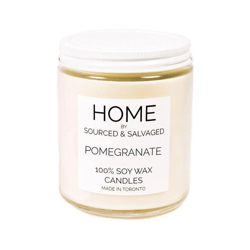 Sourced & Salvaged Soy Candle - Pomegranate