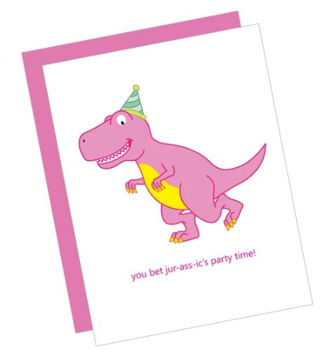 Jurassic Birthday Card
