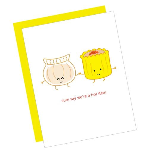 Dim Sum Couple Card