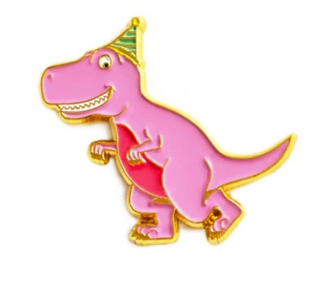 Queenies Cards - Party Dinosaur Enamel Pin