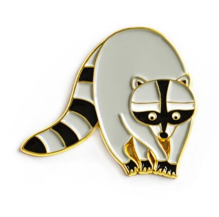 Queenies Cards - Raccoon Enamel Pin