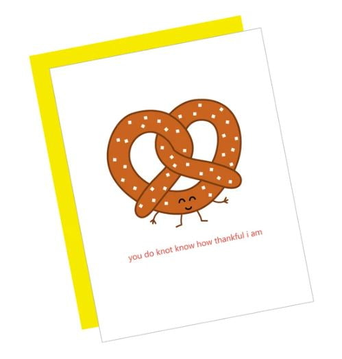 Thank You Pretzel Card