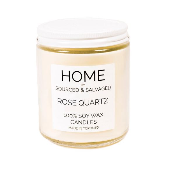 Sourced and Salvaged Soy Candle - Rose Quartz