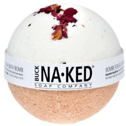 Buck Naked - Rose with Morrocan Red Clay Bath Bomb