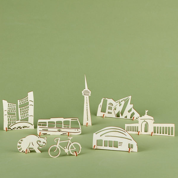 Light + Paper Studio - POP-UP TORONTO ICONS WOODEN ARTWORK