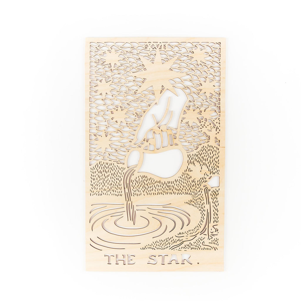 Light + Paper Studio - WOODEN TAROT CARD ARTWORK - THE STAR