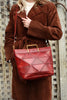 Origami Large Tote - Bordeaux Red