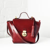 Vive Top Handle Satchel - Bordeaux Red