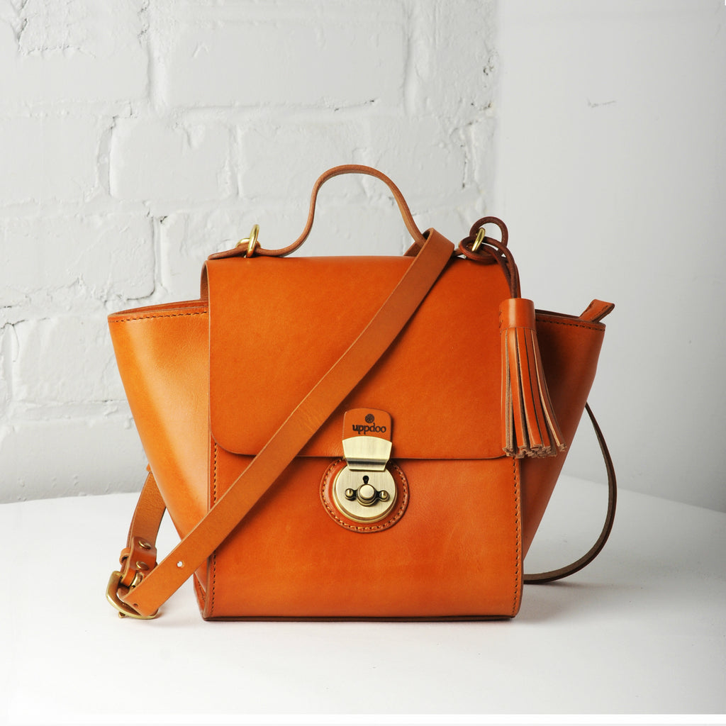 Vive Top Handle Satchel - Mango