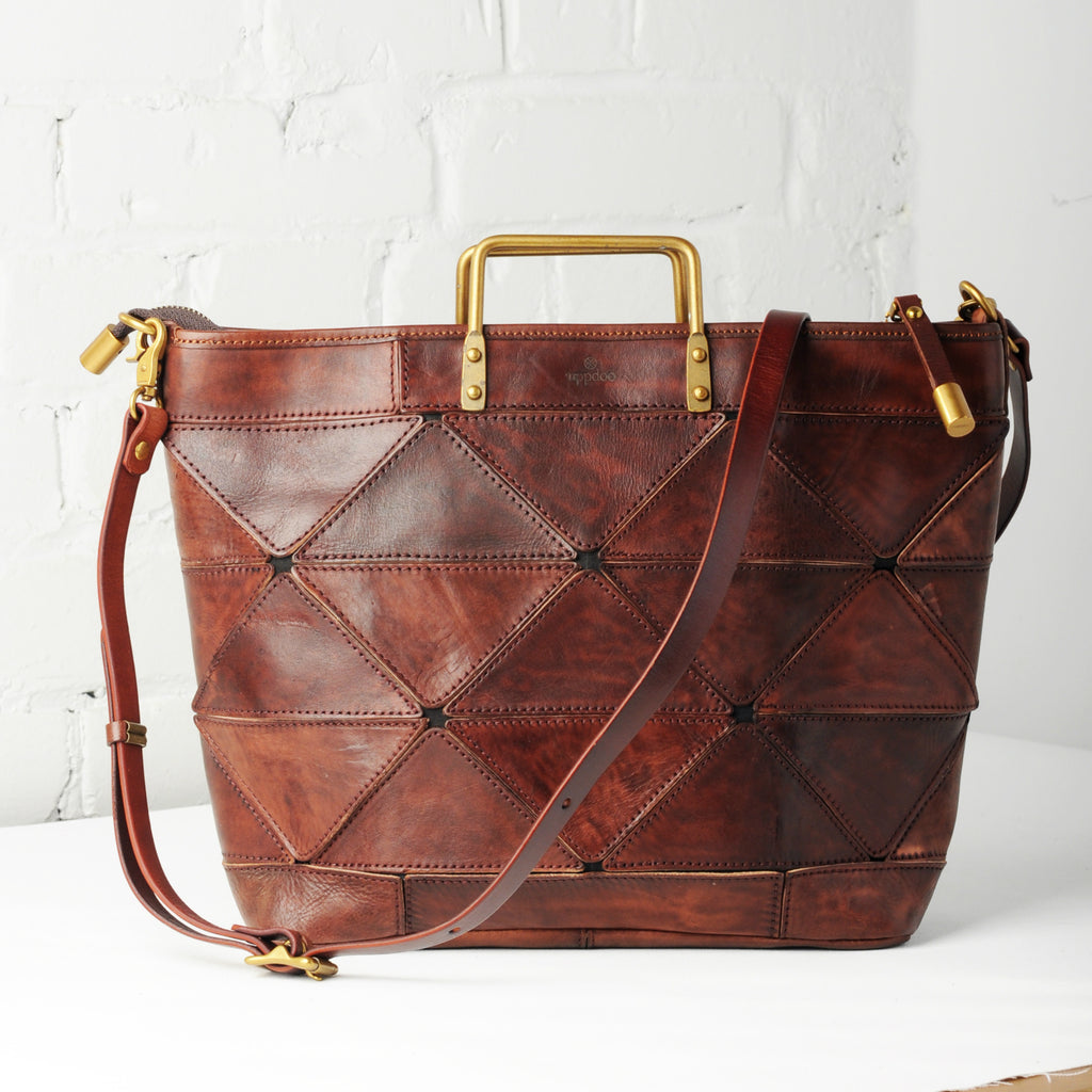 Origami Large Tote - Chestnut