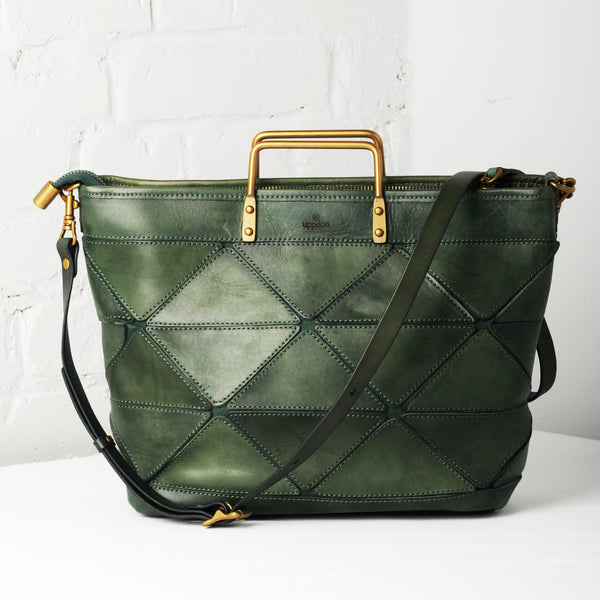 Origami Large Tote - Hunter Green