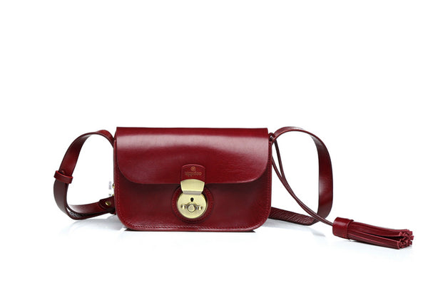 Vive Mini Crossbody Bag - Bordeaux Red