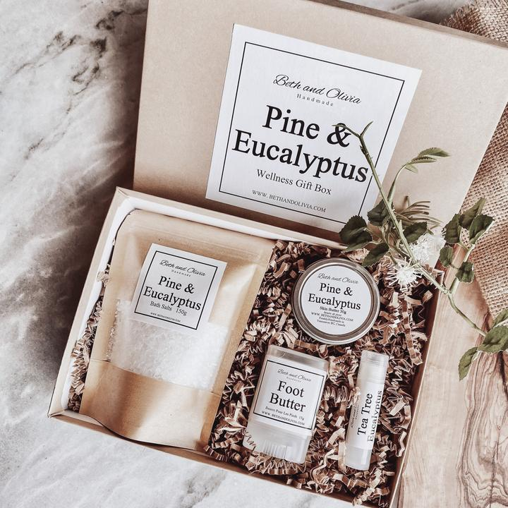 Beth + Olivia - PINE AND EUCALYPTUS WELLNESS GIFT BOX