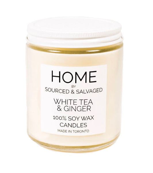 Sourced and Salvaged Soy Candle - White Tea & Ginger