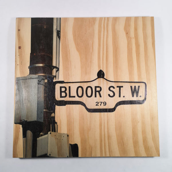 Resurfaced - Bloor St. W Sign Wood Print 12x12""