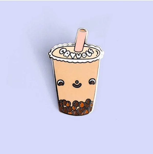 Crywolf - Milk Bubble Tea Enamel Pin