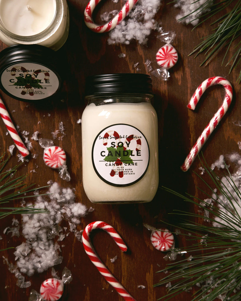 Sara's Candle Co. - Candy Cane
