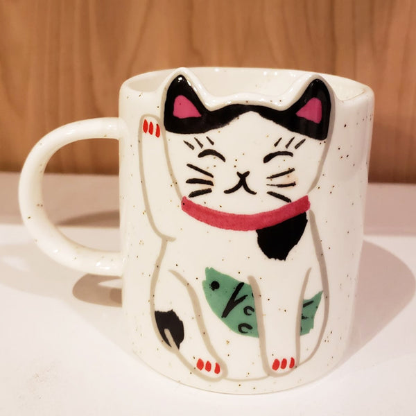 'Feeling Lucky' Hand-Painted & Handmade Ceramic Mugs