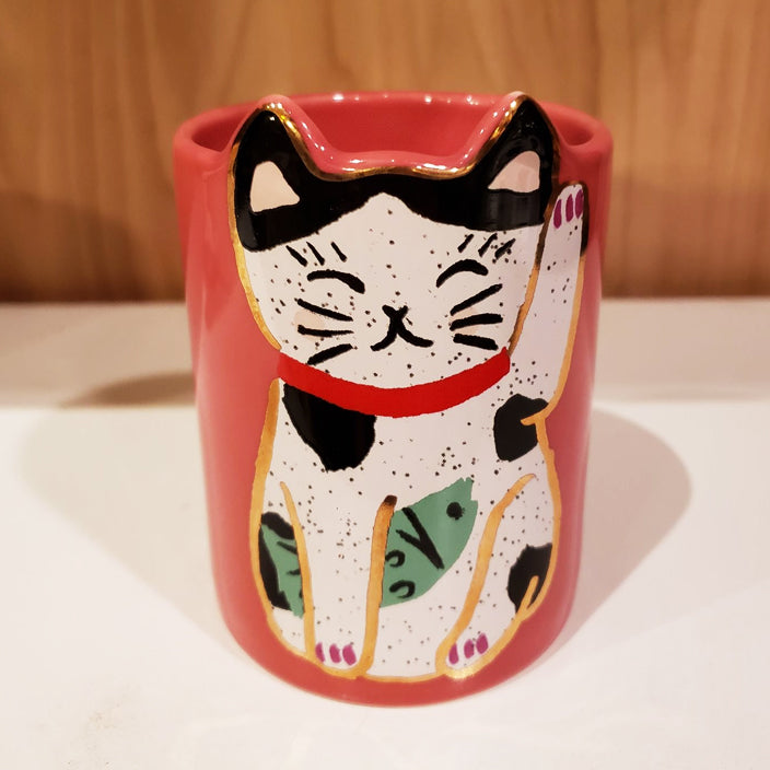 'Feeling Lucky' Hand-Painted & Handmade Ceramic Tumbler Cup