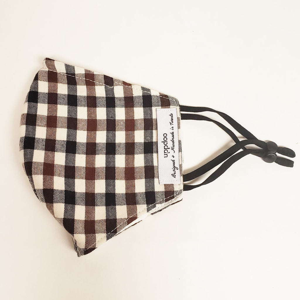Non-medical Adult Mask - Brown Checker