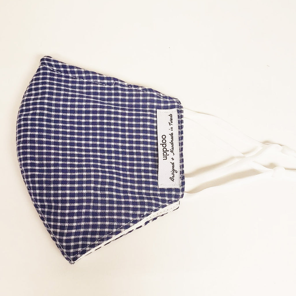 Non-medical Adult Mask - Blue Checker