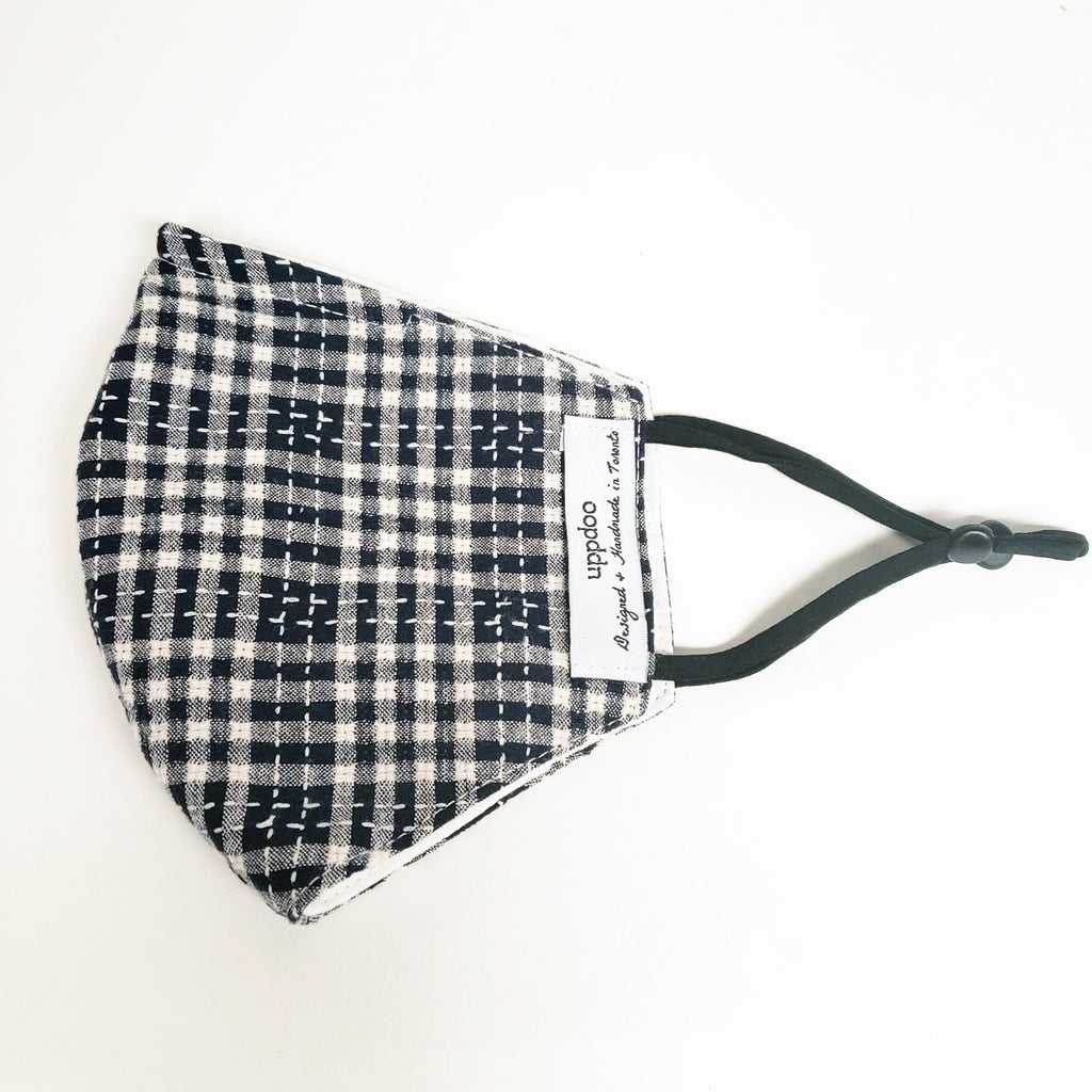 Non-medical Adult Mask - Navy Checker